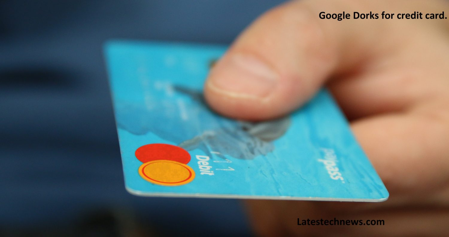 Google dorks for credit card