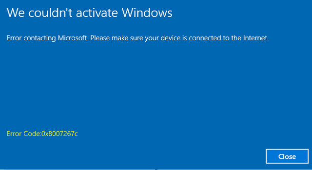 Windows 10 activation problem after update