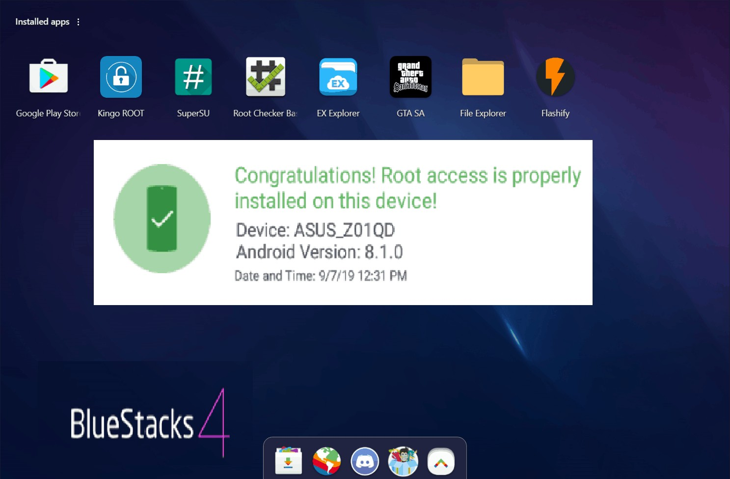 How to root bluestacks emulator and install superuser SU and custom recovery