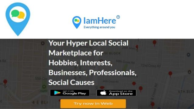 Connect with artists around you using iamhere app